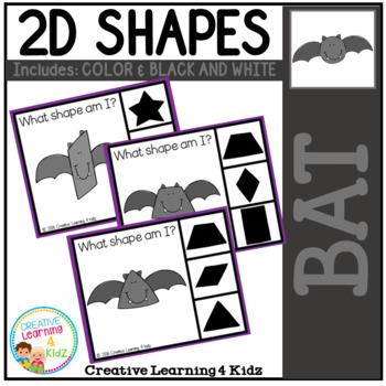 Shape Clip Cards: Bat