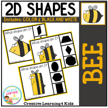 Shape Clip Cards: Bee