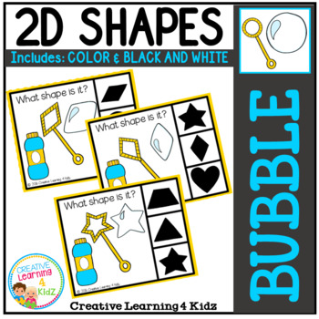 Shape Clip Cards: Bubble