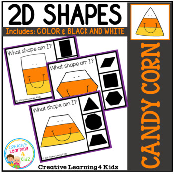 Shape Clip Cards: Candy Corn