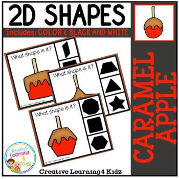 Shape Clip Cards: Caramel Apple