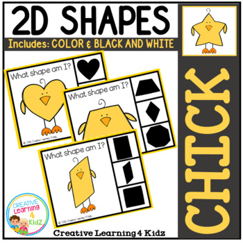 Shape Clip Cards: Chick