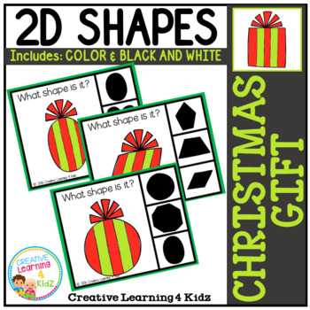 Shape Clip Cards: Christmas Gift