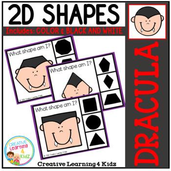 Shape Clip Cards: Dracula