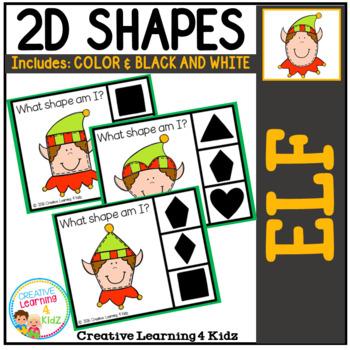 Shape Clip Cards: Christmas Elf