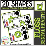 Shape Clip Cards: Floss Dental Health