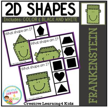 Shape Clip Cards: Frankenstein