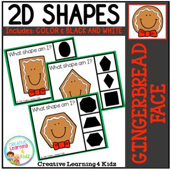 Shape Clip Cards: Gingerbread Man Face