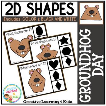 Shape Clip Cards: Groundhog Day