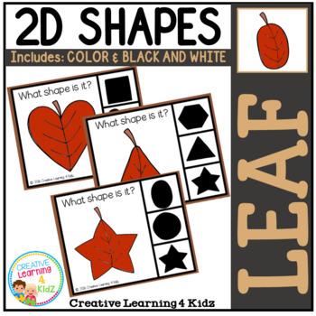 Shape Clip Cards: Leaf