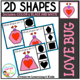 Shape Clip Cards: Love Bugs Valentine's Day
