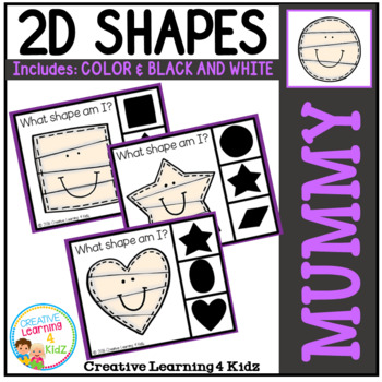 Shape Clip Cards: Mummy Halloween