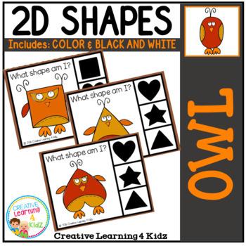 Shape Clip Cards: Owls