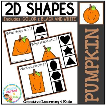 Shape Clip Cards: Pumpkin
