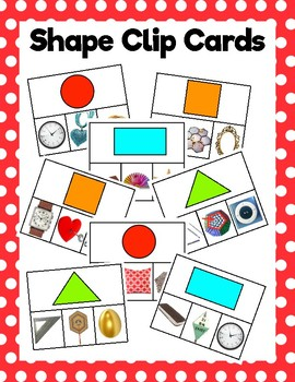 Shape Clip Cards: Real Objects