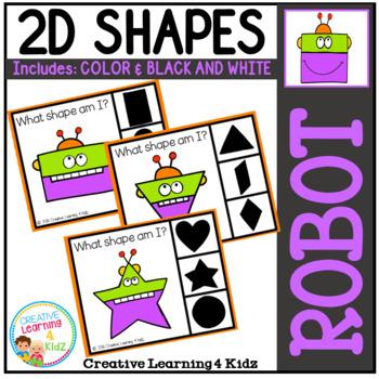 Shape Clip Cards: Robot