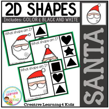 Shape Clip Cards: Santa