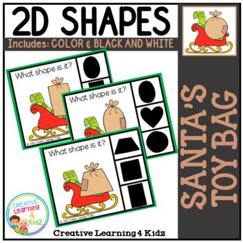 Shape Clip Cards: Santa's Toy Bag