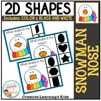 Shape Clip Cards: Snowman Nose