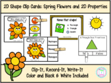 Shape Clip Cards: Spring Flowers