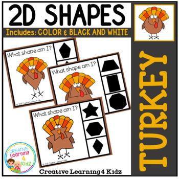 Shape Clip Cards: Turkey