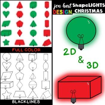 Shape Clipart Christmas Lights - ShapeLIGHTS clip art