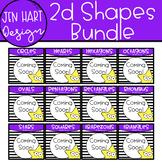Shape Clipart - Real World 2D Shapes Bundle {Jen Hart Clipart}