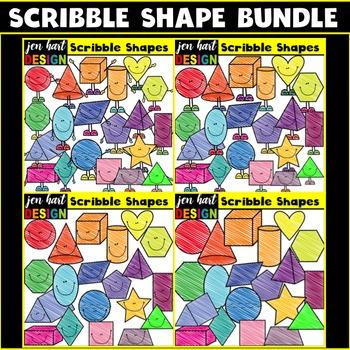 Shape Clipart (Scribble BUNDLE)
