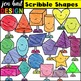 Shape Clipart (Scribble BUNDLE)
