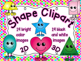 Shape Clipart with Funny Feet
