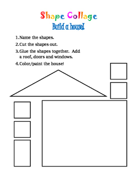 Shape Collage: Build a Math House