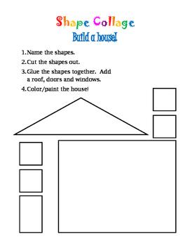 Shape Collage: Build a Math House