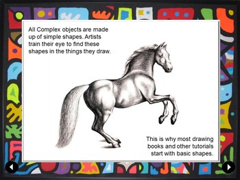Easy Middle School Art Lesson: Shape Collage: Refining observation skills in art