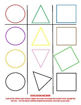 Shape Color And Draw