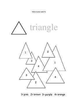 Shape Color By Number Worksheet