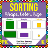 Sorting Activities | Shape and Color Sorting | Sort by Size | Autistic Friendly