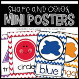 Shape & Color Mini Posters with a Chevron Flair