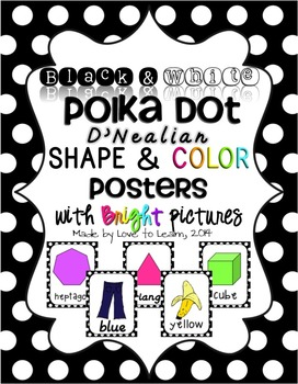 Shape & Color Posters - Black & White Polka Dot - D'Nealia