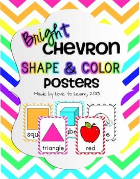Shape & Color Posters - Bright Chevron