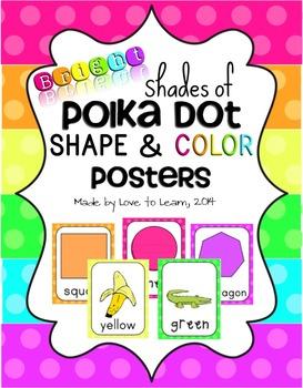 Shape & Color Posters - Bright Shades of Polka Dot