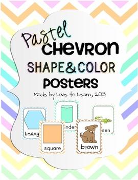 Shape & Color Posters - Pastel Chevron
