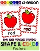Shape & Color Posters - Rainbow Chevron