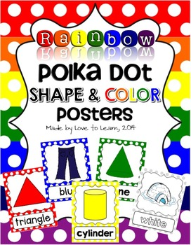 Shape & Color Posters - Rainbow Polka Dot