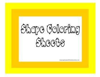 Shape Coloring Sheets