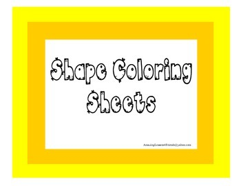Shape Coloring Sheets