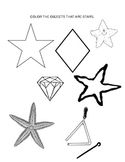 Shape Coloring Worksheet