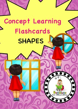 Shape Concept Learning Flashcards targeting: rectangular, square and round.