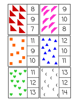 Shape Counting Clip Cards