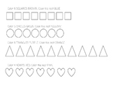 Shape Counting and Coloring