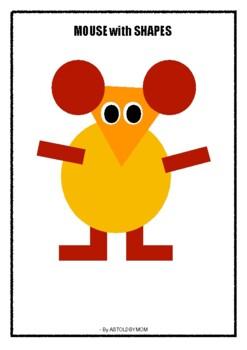 Shape Craft Mouse By Astoldbymom Teachers Pay Teachers